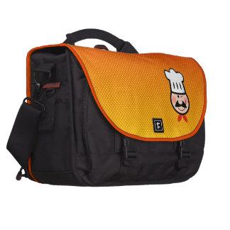 Yellow Orange Chef Laptop Messenger Bag