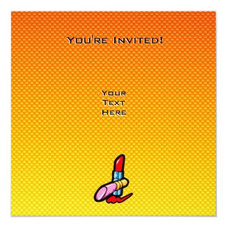 Yellow Orange Cosmetics 13 Cm X 13 Cm Square Invitation Card