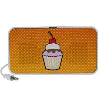 Yellow Orange Cupcake Portable Speakers