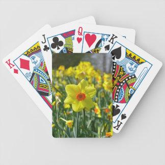 Yellow orange Daffodils 01.0.2 Bicycle Playing Cards