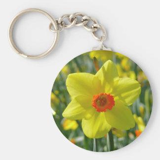 Yellow orange Daffodils 01.0 Key Ring