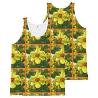 Yellow orange Daffodils 02.2o All-Over Print Singlet