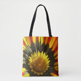 Yellow Orange Daisy Tote Bag