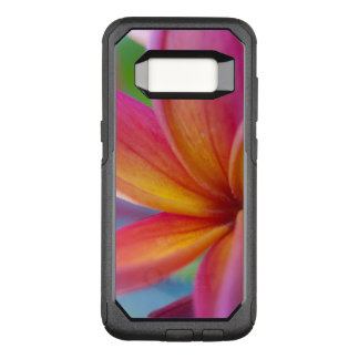 Yellow Orange Deep Pink Tropical Plumeria Flower OtterBox Commuter Samsung Galaxy S8 Case