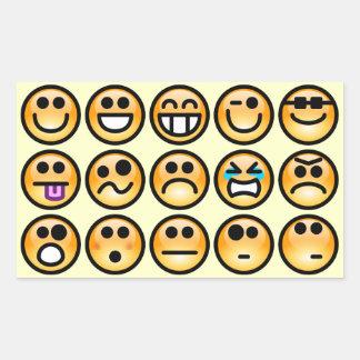 Yellow-Orange Emoticons Rectangular Sticker