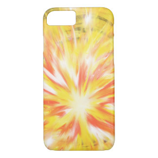 Yellow Orange Flames Fire Star Abstract Art Design iPhone 8/7 Case