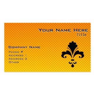 Yellow Orange Fleur de lis Business Cards