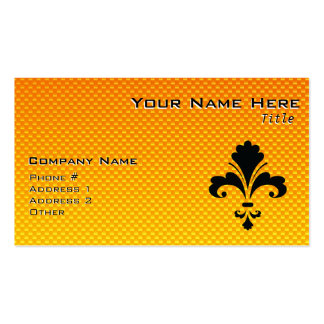Yellow Orange Fleur de lis Pack Of Standard Business Cards