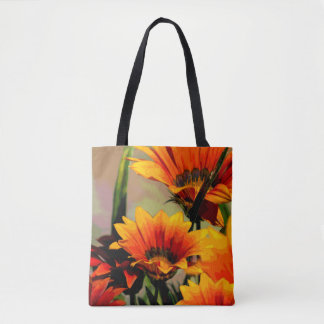 Yellow Orange Florals Tote Bag