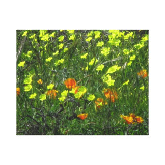 Yellow Orange Flowers Gallery Wrapped Canvas