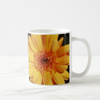 Yellow / Orange Gerbera Flower Mug