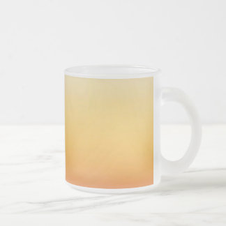 YELLOW ORANGE GRADIENT BACKGROUND TEMPLATE CUSTOMI FROSTED GLASS COFFEE MUG