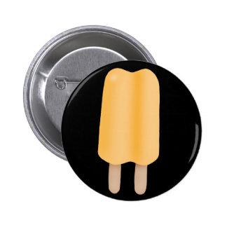 Yellow Orange Ice Pop Pinback Button
