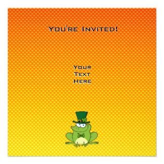 Yellow Orange Irish Frog Invitation