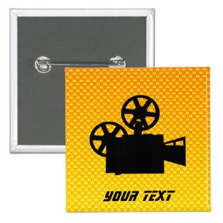 Yellow Orange Movie Camera Button