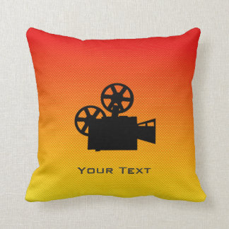 Yellow Orange Movie Camera Cushions