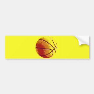 Yellow Orange Pop Art Basketball Bumper Sticker