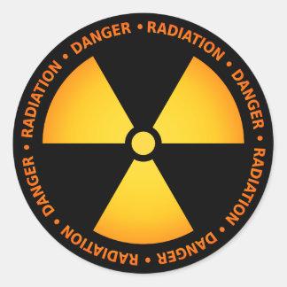 Yellow/Orange Radiation Symbol Sticker