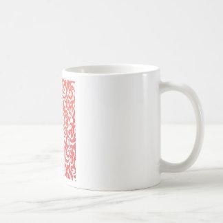 Yellow Orange Red Swirl Basic White Mug