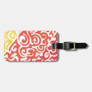 Yellow Orange Red Swirl Tags For Luggage