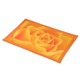 Yellow Orange Rose Placemat