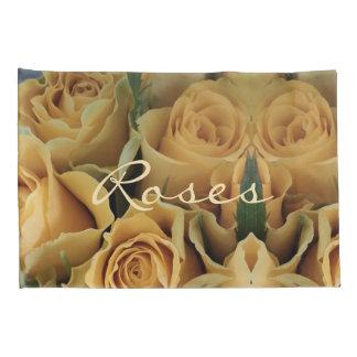 Yellow Orange Roses Flower Rose Floral Romantic Pillowcase