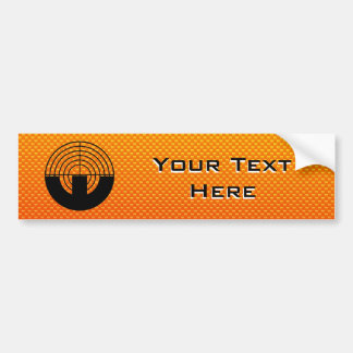 Yellow Orange Sport Shooting Bumper Sticker