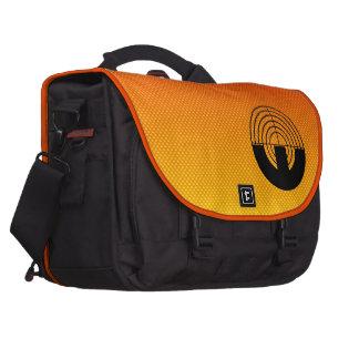 Yellow Orange Sport Shooting Laptop Messenger Bag
