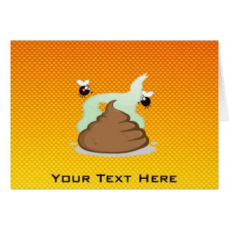 Yellow Orange Stinky Poo Greeting Card