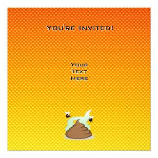 Yellow Orange Stinky Poo Invites