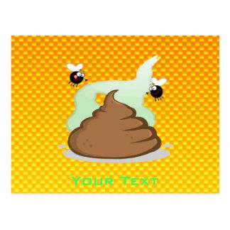 Yellow Orange Stinky Poo Postcard