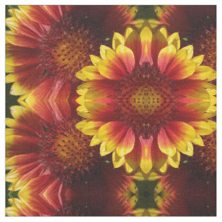 Yellow-orange sunflower fabric