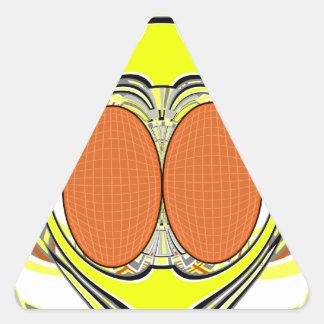 Yellow orange superfly design triangle sticker