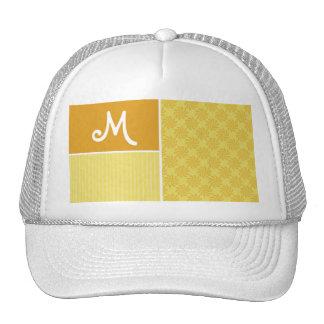 Yellow Orange Swirl Hats