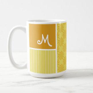 Yellow Orange Swirl Mug
