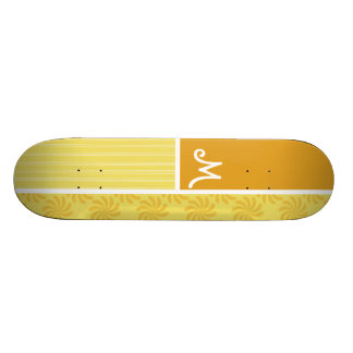 Yellow Orange Swirl Skate Decks