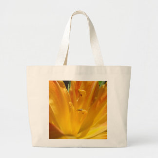Yellow Orange Tiger Lily Large Tote Bag