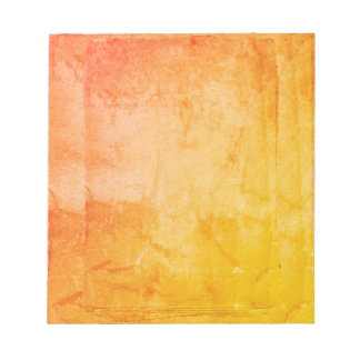 Yellow Orange Watercolor Paint Screen Print Artist Notepad