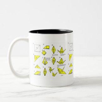Yellow Origami Mug