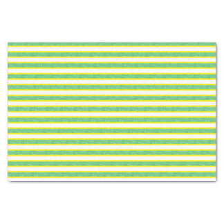 Yellow Outlined Static Green Stripes Tissue Paper