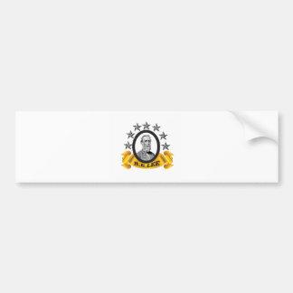 yellow oval lee bumper sticker