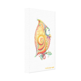 Yellow Owl Canvas Wall Hanging Canvas Prints