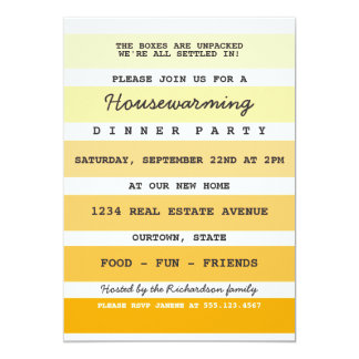 Yellow Paint Sample Housewarming Party Card
