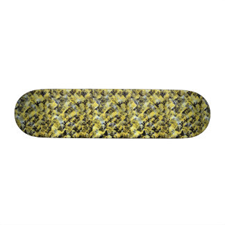 Yellow Painted Skateboard