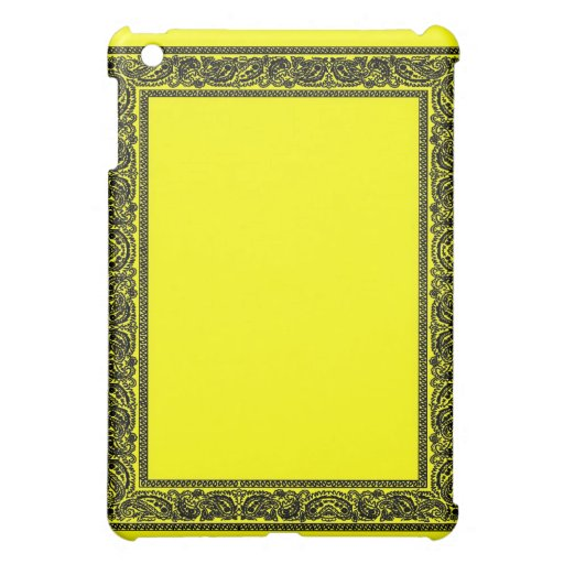 Yellow Paisley Bandana iPad Case