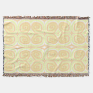 Yellow Pale Orange Swirls Throw Blankets