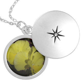 Yellow Pansies Necklace