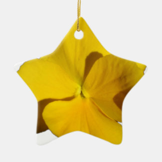 Yellow Pansy 201711f Ceramic Ornament
