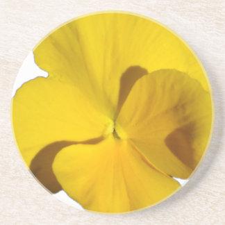 Yellow Pansy 201711f Coaster