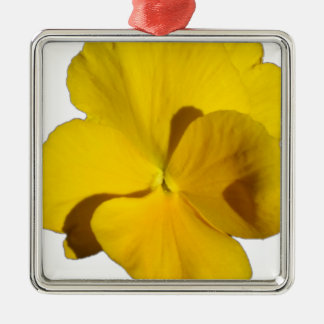 Yellow Pansy 201711f Metal Ornament